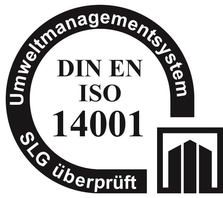 zertifizierung nach DIN EN ISO 14001 - ein Siegel für ein Umweltmanagementsystem geprüft durch SLG