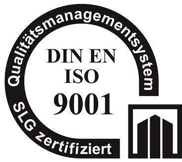 zertifizierung nach DIN EN ISO 9001 - ein Siegel für ein Umweltmanagementsystem geprüft durch SLG